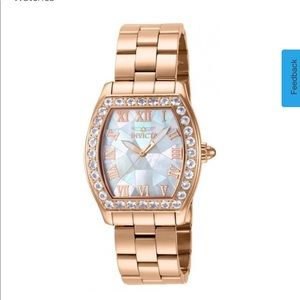 INVICTA ANGEL  ROSE-GOLD MORGANITE BEZEL NWOT